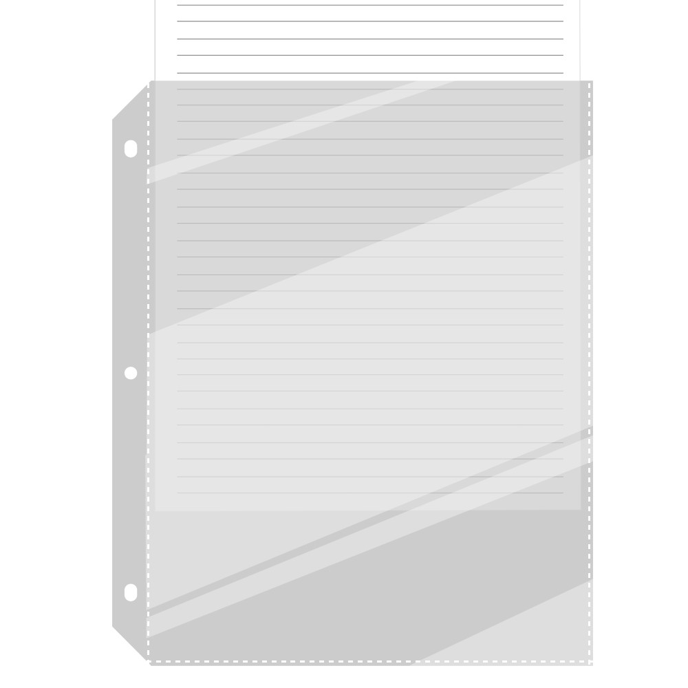 C-LINE Full Page Sheet Protectors for 3-Ring 8.5x11 Binde...