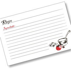 4x6 A La Carte Recipe Card - 40 ea