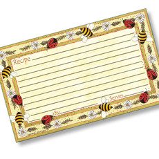 3 x 5 Bugs and Bees Recipe Card