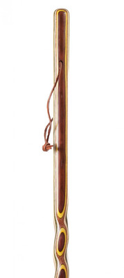 Twisted Colorwood Walking Stick 50-inches