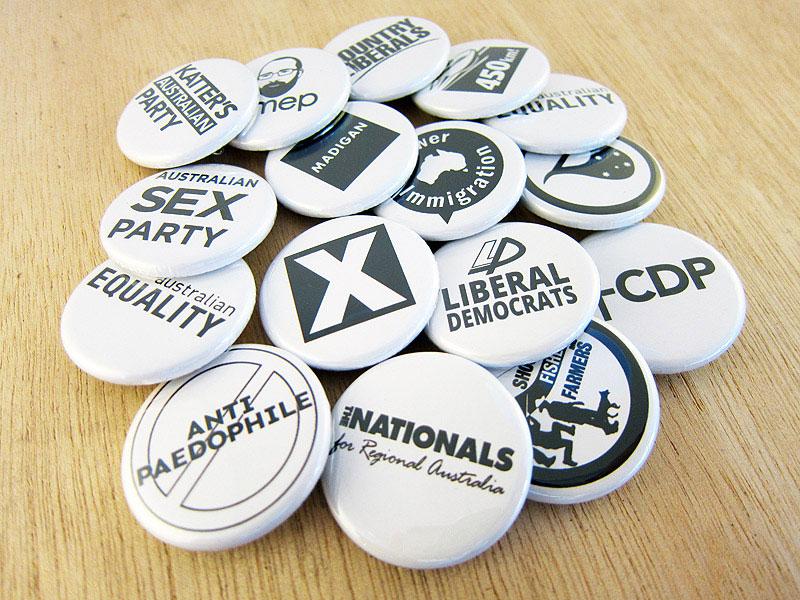 Australian Election Badges