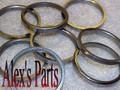 "VALVE SEATS, 1.6875"" x 1.437"" x .156"", Universal, Chev, GMC & Perkins, Set of 4"