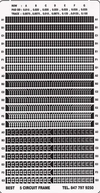 BEST circuit frame pattern 5A for BGA pad repair