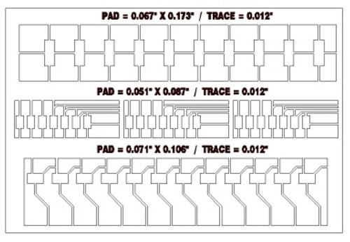BEST circuit frame pattern 15A for pad/trace repairs