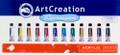 ArtCreation Acrylic Color Set of 12 colors (12ml tubes)