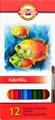 Koh-i-noor Aquarell Colored Pencils Set of 12 colors