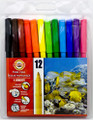 Koh-i-noor Fibre Pens Set of 12 colors