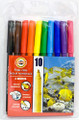 Koh-i-noor Fibre Pens Set of 10 colors