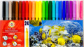 Koh-i-noor Fibre Pens Set of 24 colors 1002