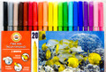 Koh-i-noor Fibre Pens Set of 20 colors 1002