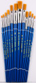 Nylon Watercolor Flat Brush Set of 12 No. 946