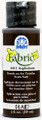 FolkArt ® Fabric™ Paint - Brush On - Asphaltum 2oz
