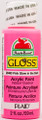 Apple Barrel ® Gloss™ - Glow-In-The-Dark - Pink, 2 oz.