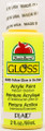 Apple Barrel ® Gloss™ - Glow-In-The-Dark - Yellow, 2 oz.