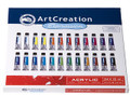 ArtCreation Acrylic Color Set of 24 colors (12ml tubes)