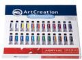 ArtCreation Acrylic Color Set of 24 colors (12ml tubes)