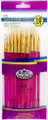 Royal Langnickel Super Value Pack White Bristle Brush Set of 10 Pieces No. SVP-5
