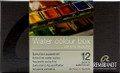 Rembrandt Watercolor Pan Set of 12 colors + Sable Brush