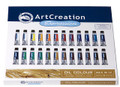 ArtCreation Oil Color Set of 24 colors (12ml tubes)