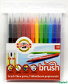 Koh-i-noor Brush Fibre Pens Set of 12 colors