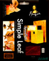 "Mona Lisa Simple Leaf 5.5""x5.5"" Variegated Sunrise 6 sheets No. 10037"