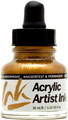Acrylicos Vallejo Acrylic Artist Ink Gold 30ml