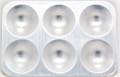 U-Art Mixing Plate Aluminum Rectangular 6 wells