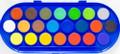 U-Art Watercolor Set of 22 Colors Pan