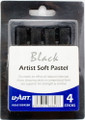 U-Art Soft Pastel Set of 4 pieces Black