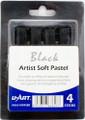 U-Art Soft Pastel Set of 4 pieces Black