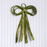 "Lime Green Pliable Fabric Glitter Bow (8""x12"")"