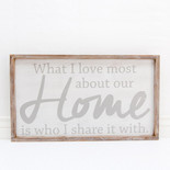 28x16x1.5 frmd sign (HOME) wh/gr