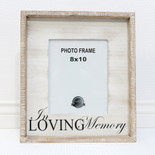 15x17x1.5 wood frame (LVNG MEMRY) wh/bk (8x10)