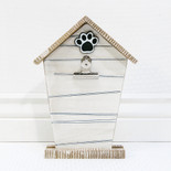 8x10.5x1.5 wd pet house photo holder wh/bk