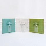 5.75x6.25x.5 wd glass jar vase 3 asst wh/gn/bl