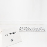12x14.5x.25 bag 112 pcs 1.5x1.75x.25 (LETTERS -LARGE BAG) wh/bk