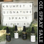 Krumpet's Home & Krumpets & Creme Oil Spray SET OF 4 (FREE SHIPPING)