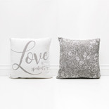 16x16x4 canvas pillow (LV SPKN) wh/gy