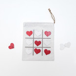 6.5x8x.5 tic-tac-toe game (HEARTS) wh/gy/rd