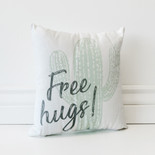 12x12x4 canvas pillow (HUGS) wh/gy/gn