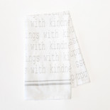24x17 tea towel (THNGS KNDNSS) wh/bk