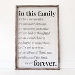24x36x1.5 frmd sign (IN THS FMLY) wh/bk