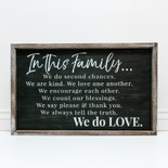 27x18x1.5 frmd sign (IN THS FMLY) bk/wh
