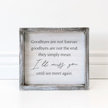 9x8x1.5 frmd sign (I MSS YOU) wh/bk