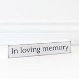 10x1.75x1.5 wood sign (LVNG MEMRY) wh/bk