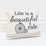 9.5x8 pillow (BTFL RDE) wh/bk