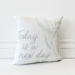 12x12x4 canvas pillow (TODAY) wh/gy/gn