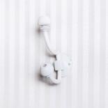 4x3.5x1.25 wood/metal hook white