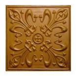 15 x 15 embossed metal tile distressed golden