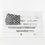 24x15.75x.5 wood sign (USA) wh/bk